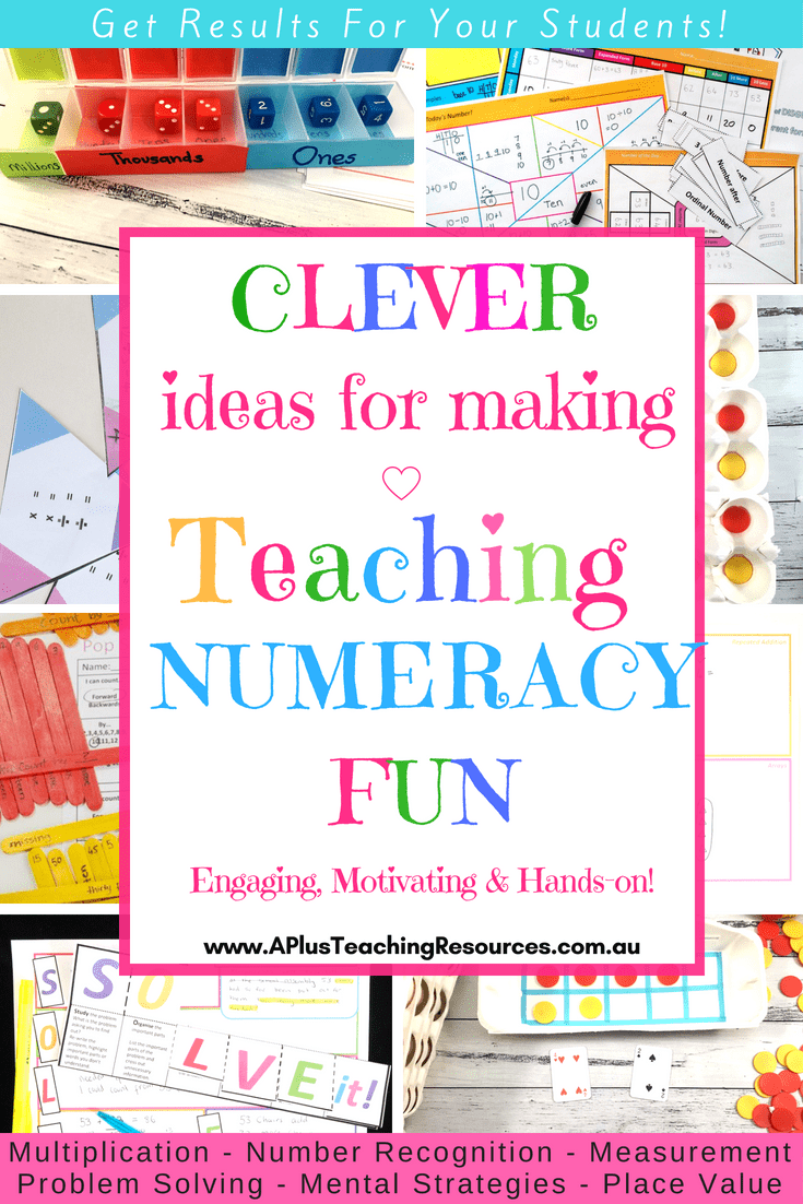 Clever ideas for making teaching Numeracy fun!
