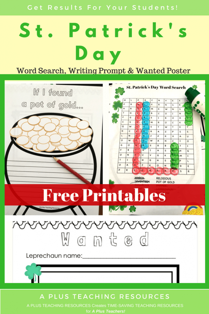 FREE St. Patrick's Day Worksheets For Kids