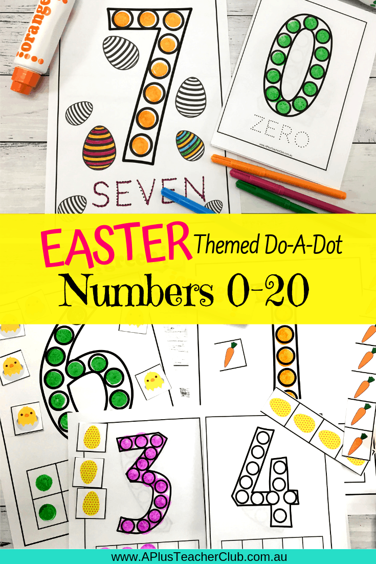 Easter Printables For Numbers