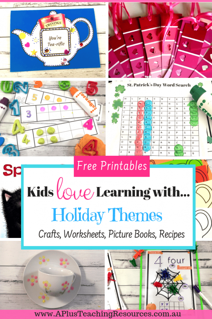 Thematic Crafts For Kids {Free Printables, Books & Worksheets}