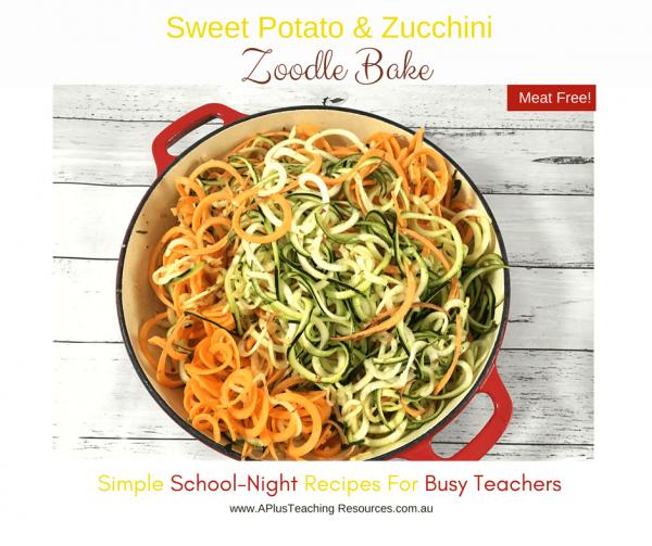 Sweet Potato & Zucchini Noodles
