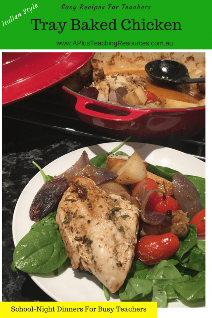Italian Tray Baked Chicken