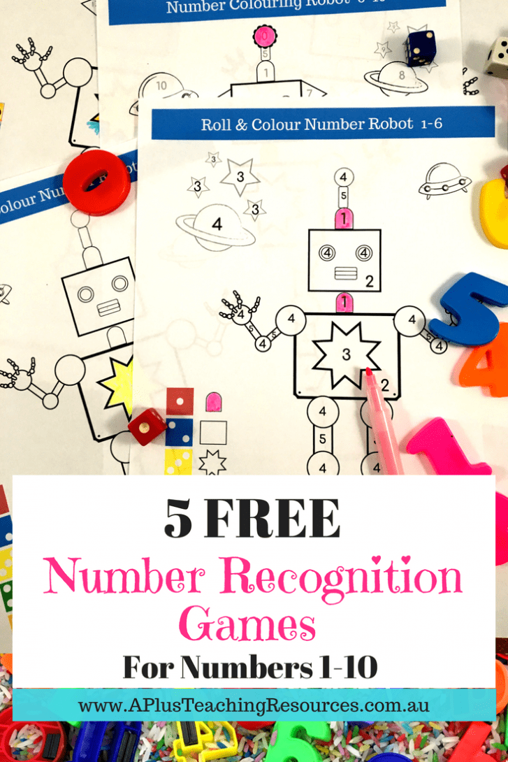 Number Colouring Math Game For Kids