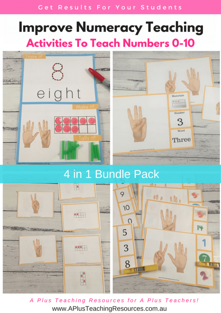 Numbers 0-10 Activities 4 in 1 Bundle pack