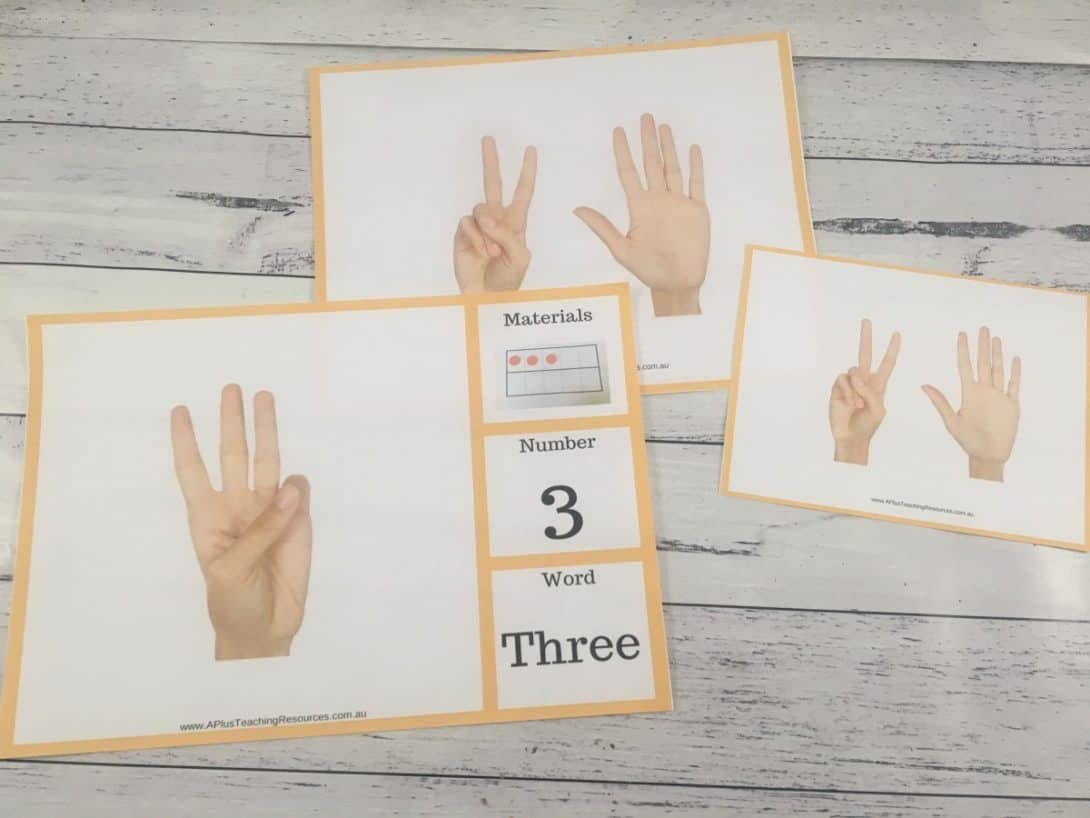 Counting on fingers posters