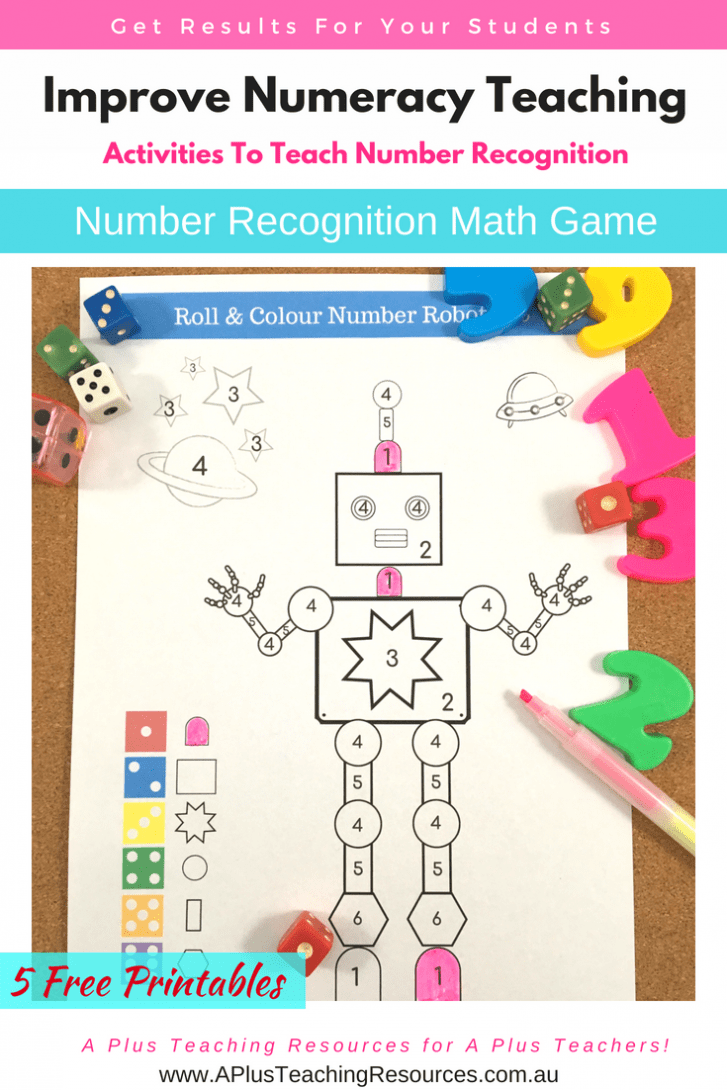 Number recognition activities for FREE!