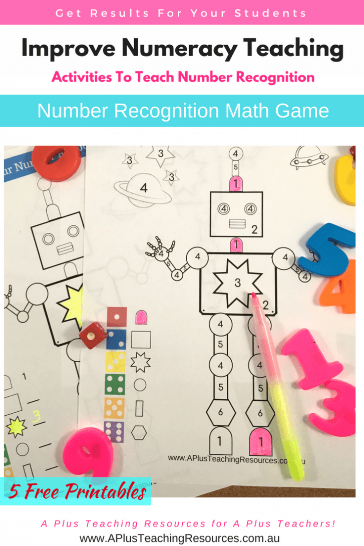 Number Colouring Math Game for Kids Pack