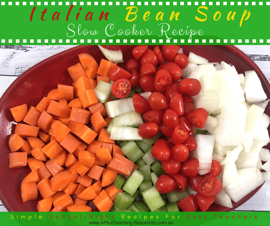 Italian Bean Soup Vegetables