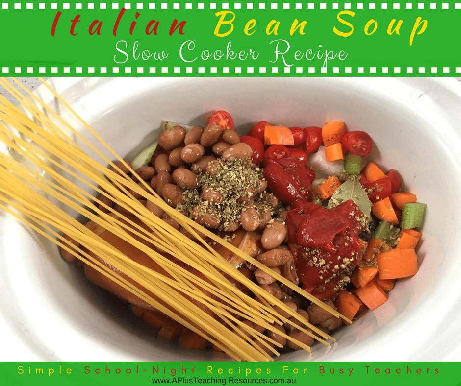 Slow Cooker Italian Bean Soup