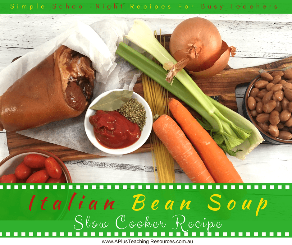 Italian Bean Soup ingredients