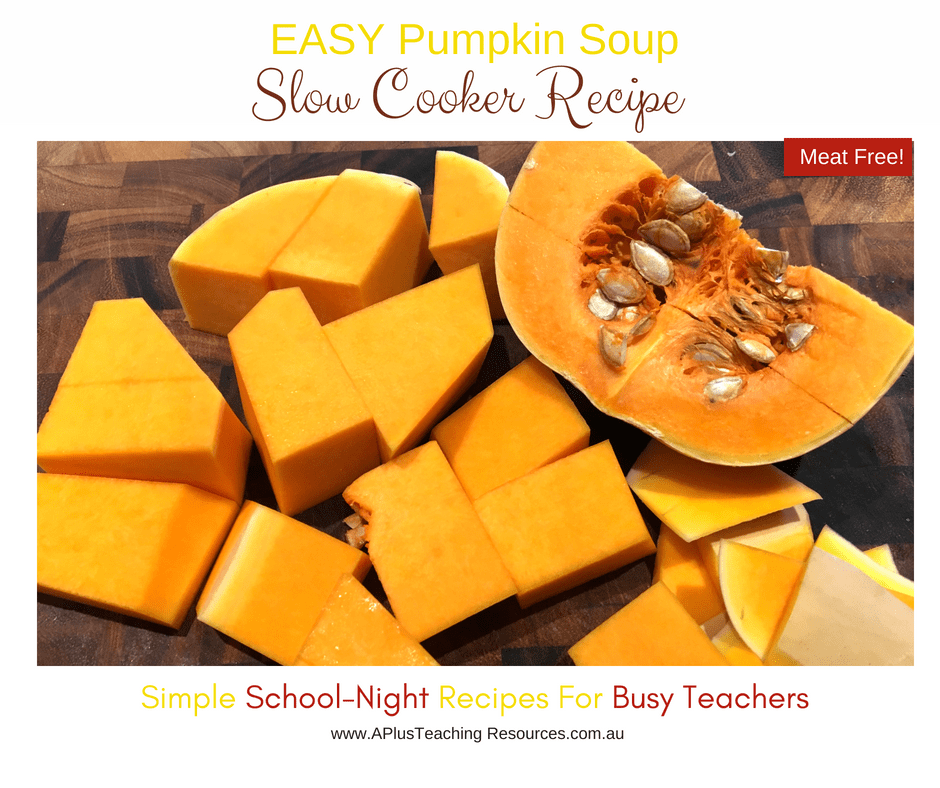 chop pumpkin for soup recipe
