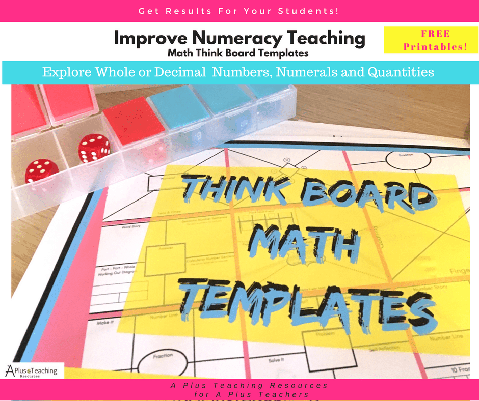 Maths think Board Templates