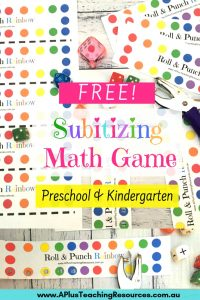 Rainbow Subitizing math game