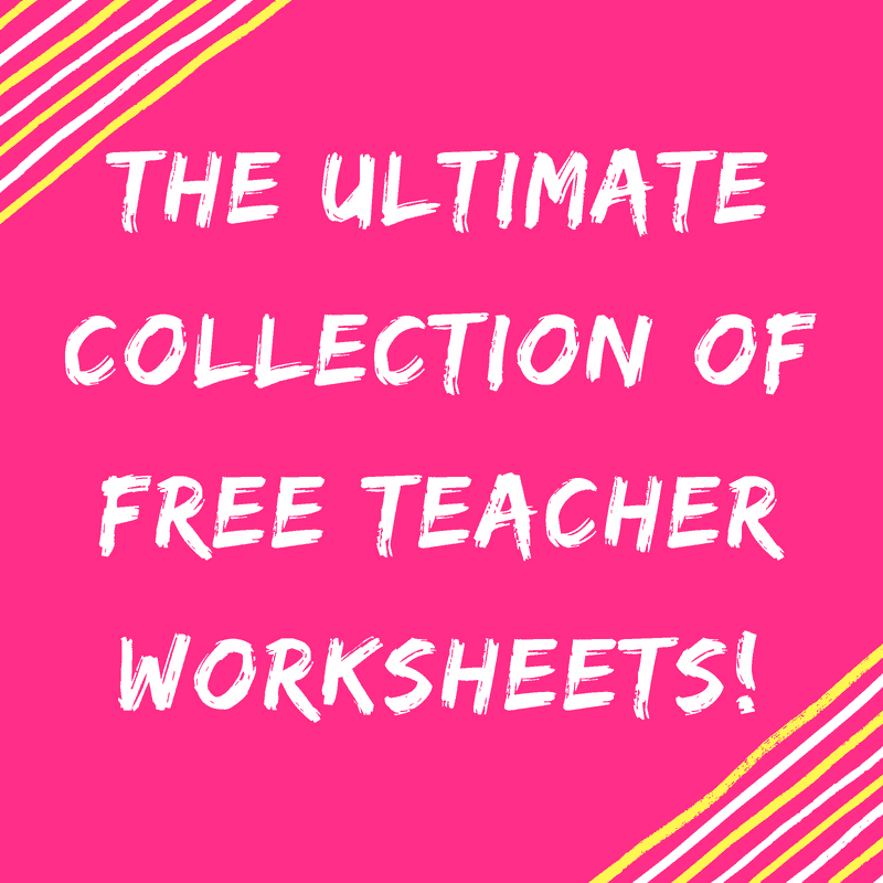 The Ultimate Collection of FREE Teacher Worksheets For Primary ...