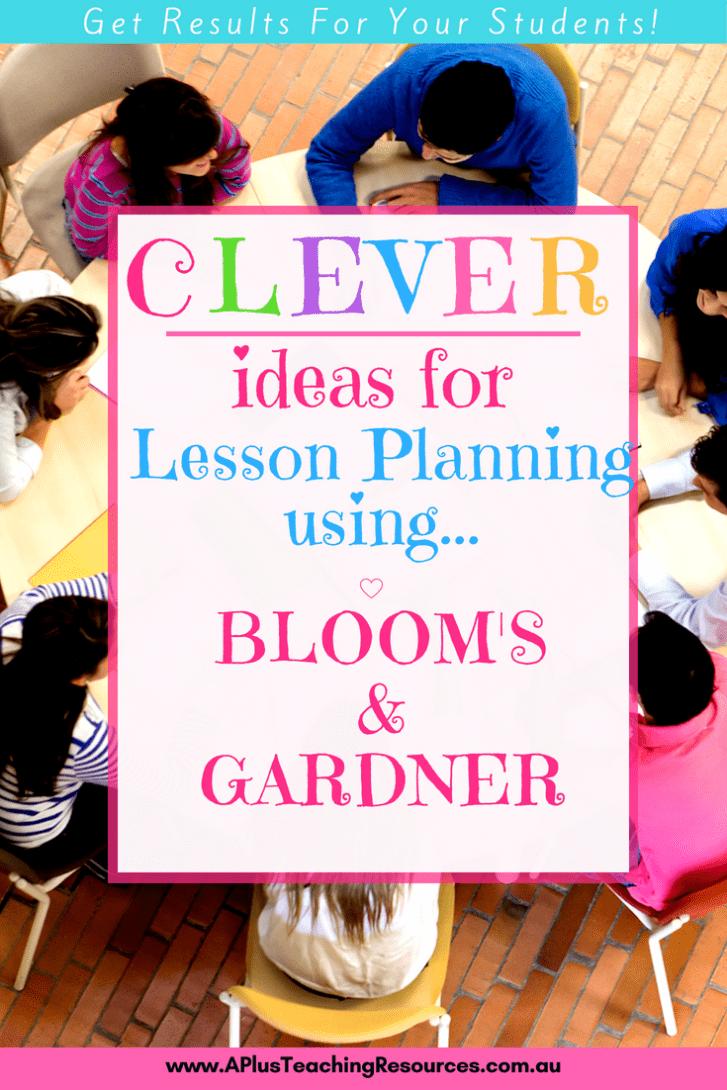 Blooms Gardner writing matrix