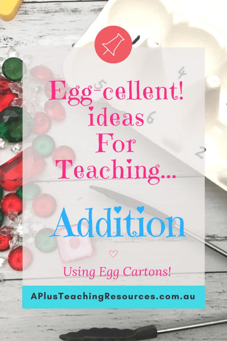 Egg Carton Addition Activities
