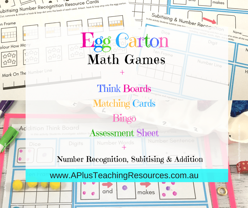 Egg Carton Math Activities Pack