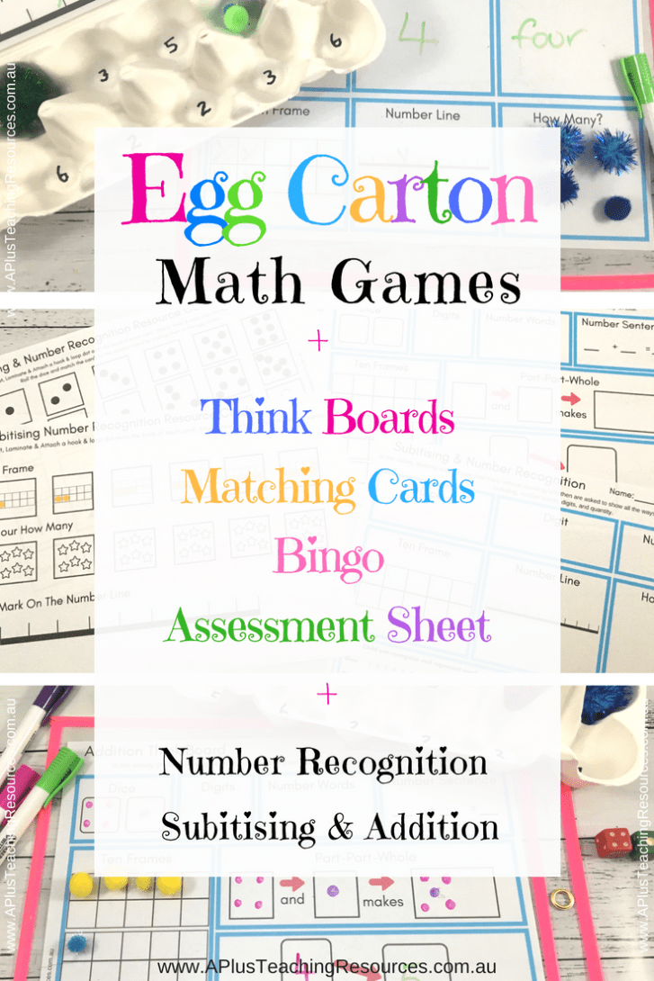 Egg Carton Maths Activities Pack
