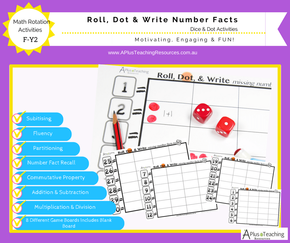 Roll, Dot & Write Number Facts