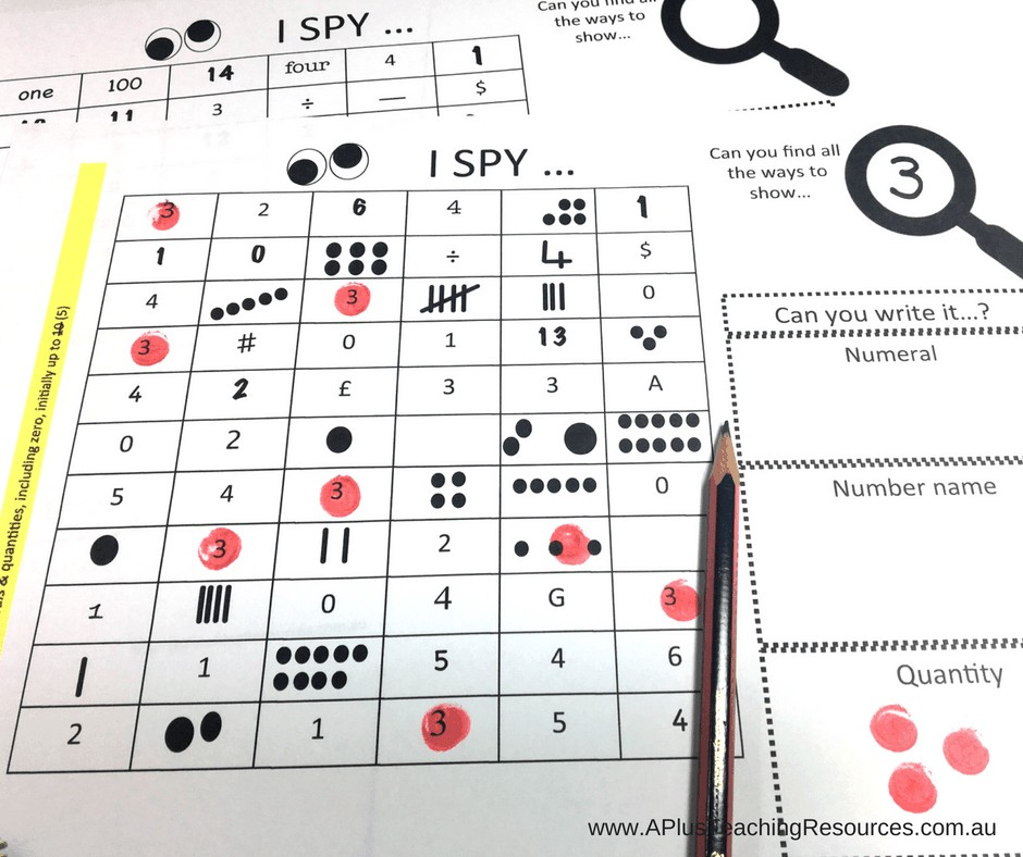 Printable Number Recognition Games