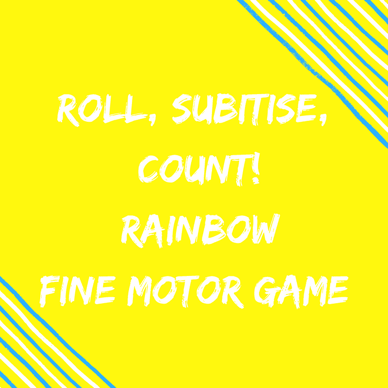 Fine Motor Rainbow Math Game
