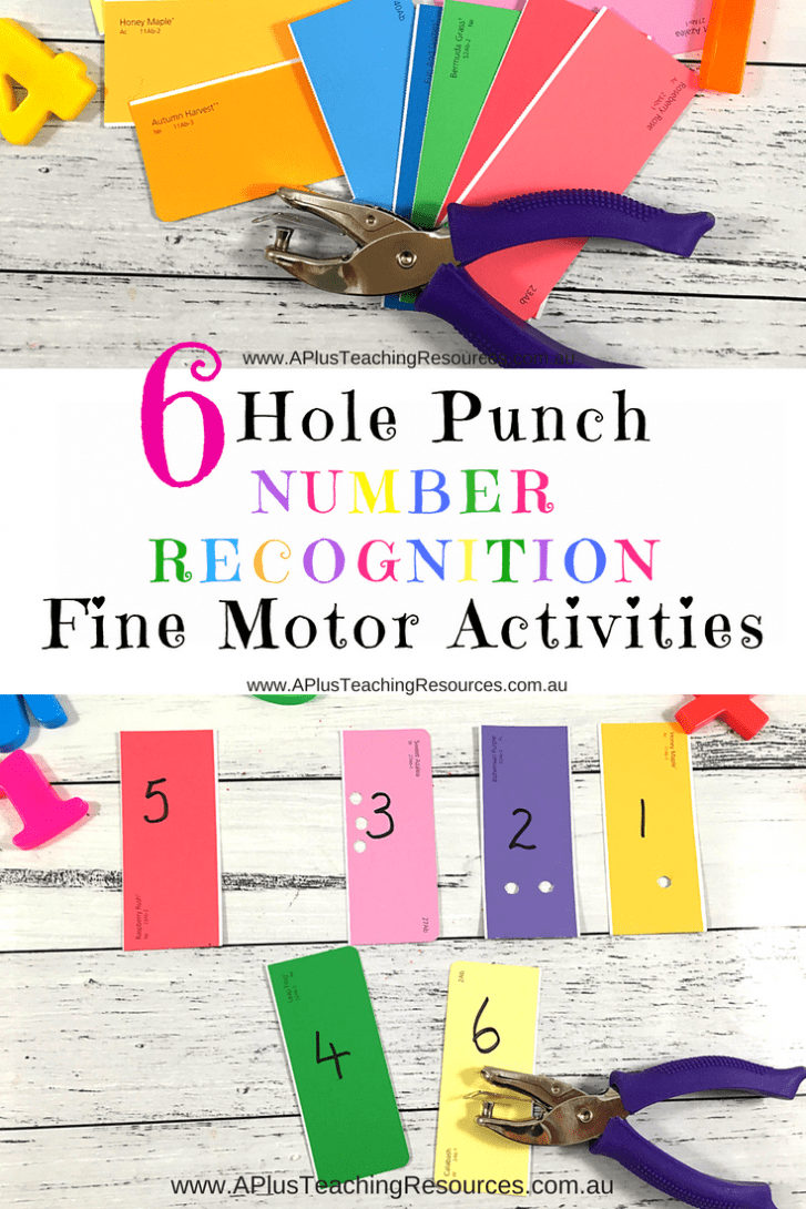 Hole Punch Number Recognition Activity