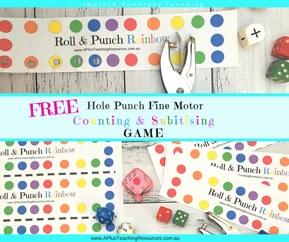 FREE Roll & Punch Fine Motor Hole Punch Counting