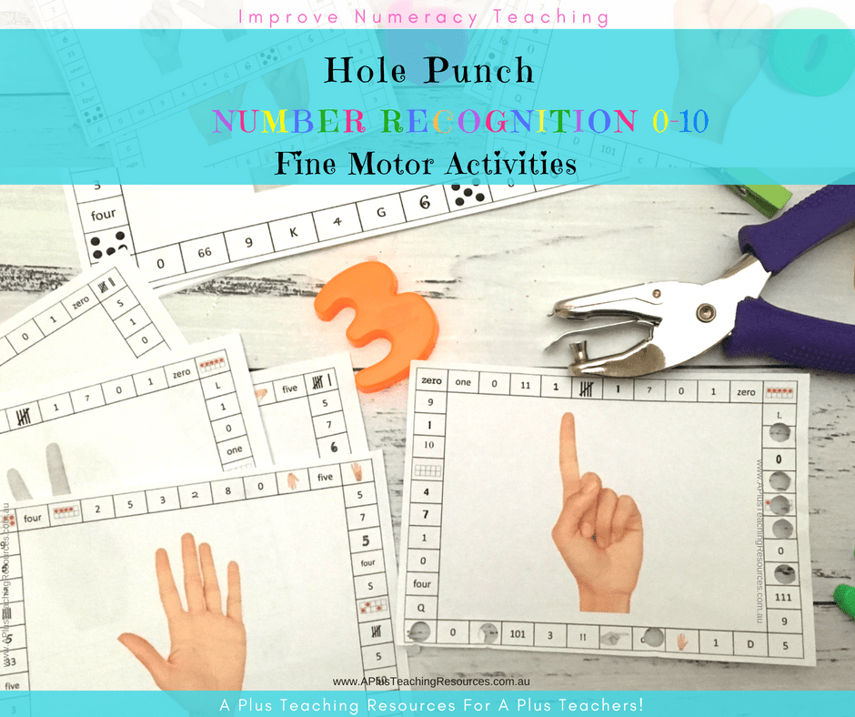 Hole Punch Number Recognition Activity Pack
