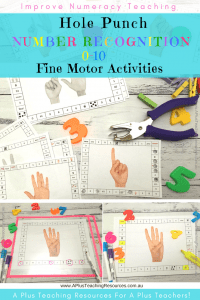 Numbers 0-10 Hole Punch Activities