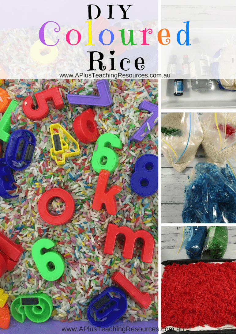 DIY Coloured rice recipe