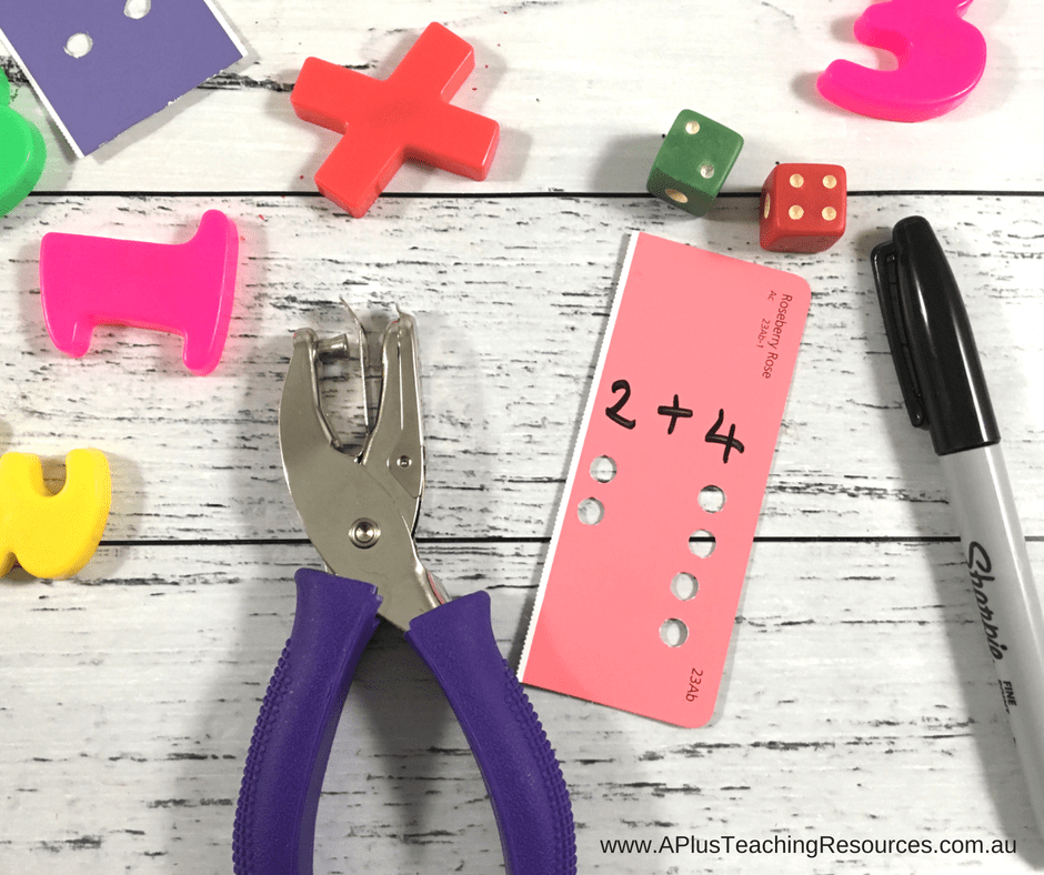 hole punch fine motor addition activity