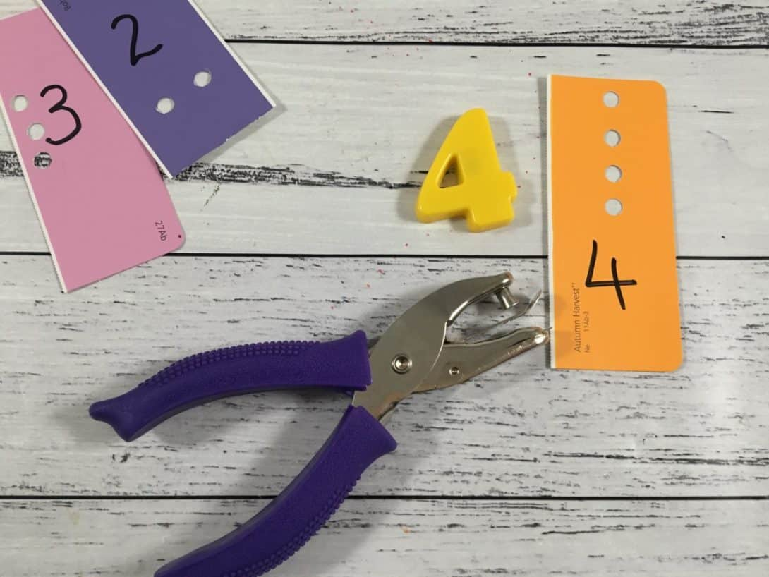 fine motor hole punch matching to magnetic numbers