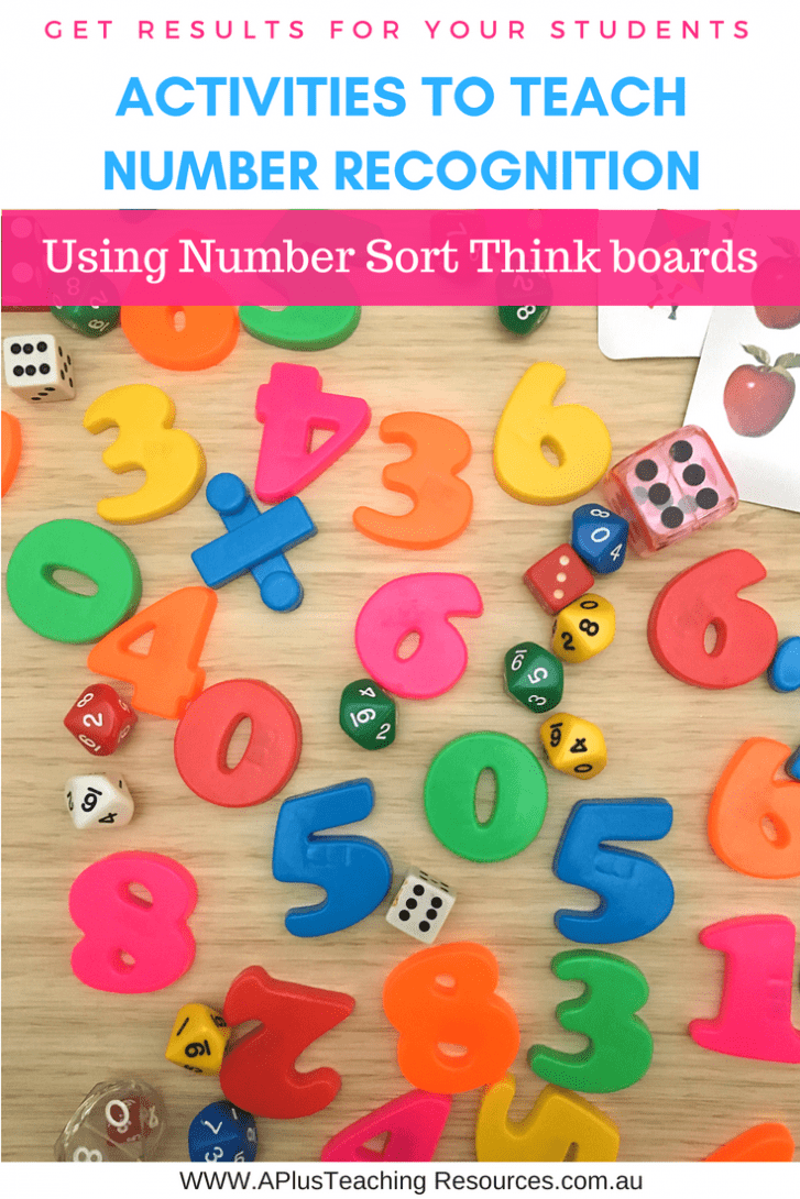 Number Sort Think Boards