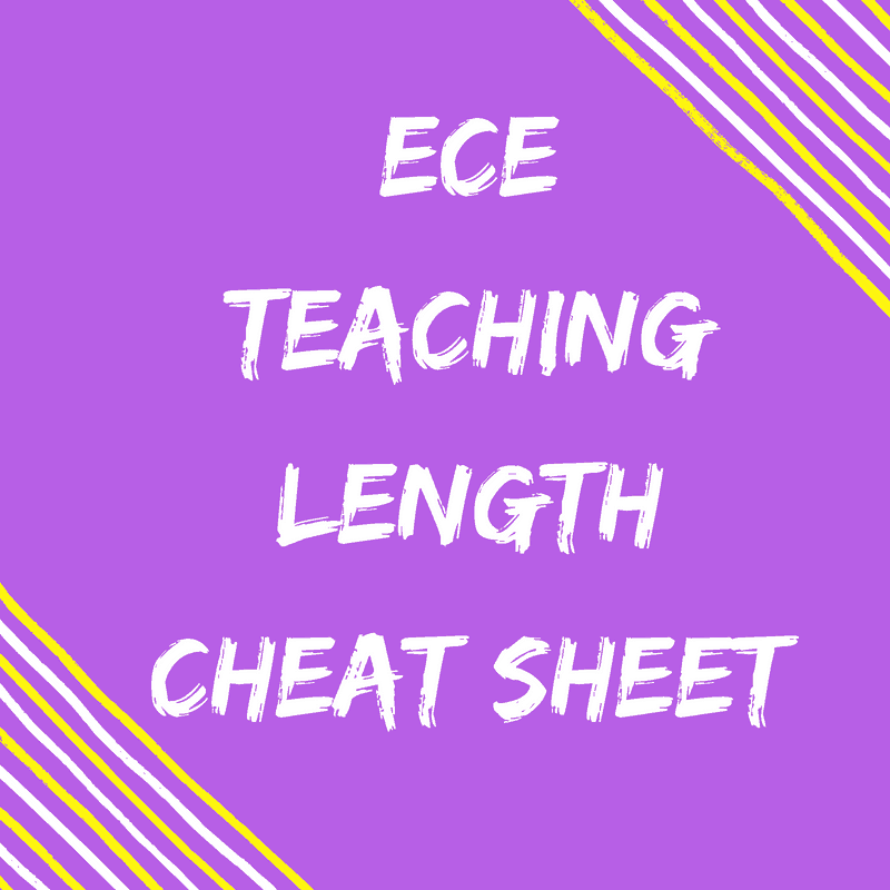 ECE Length Cheat Sheet