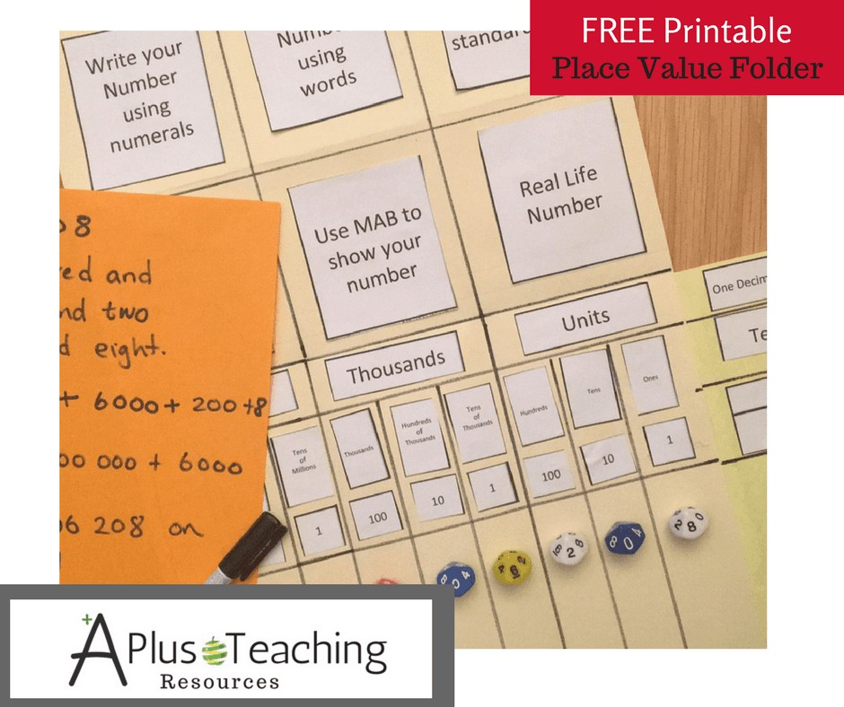 Place Value Folder Free Printable