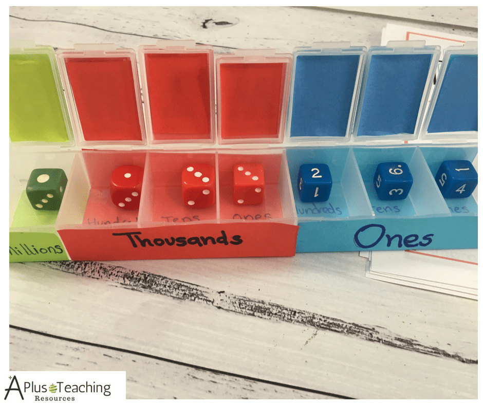 Place Value Dice Shaker