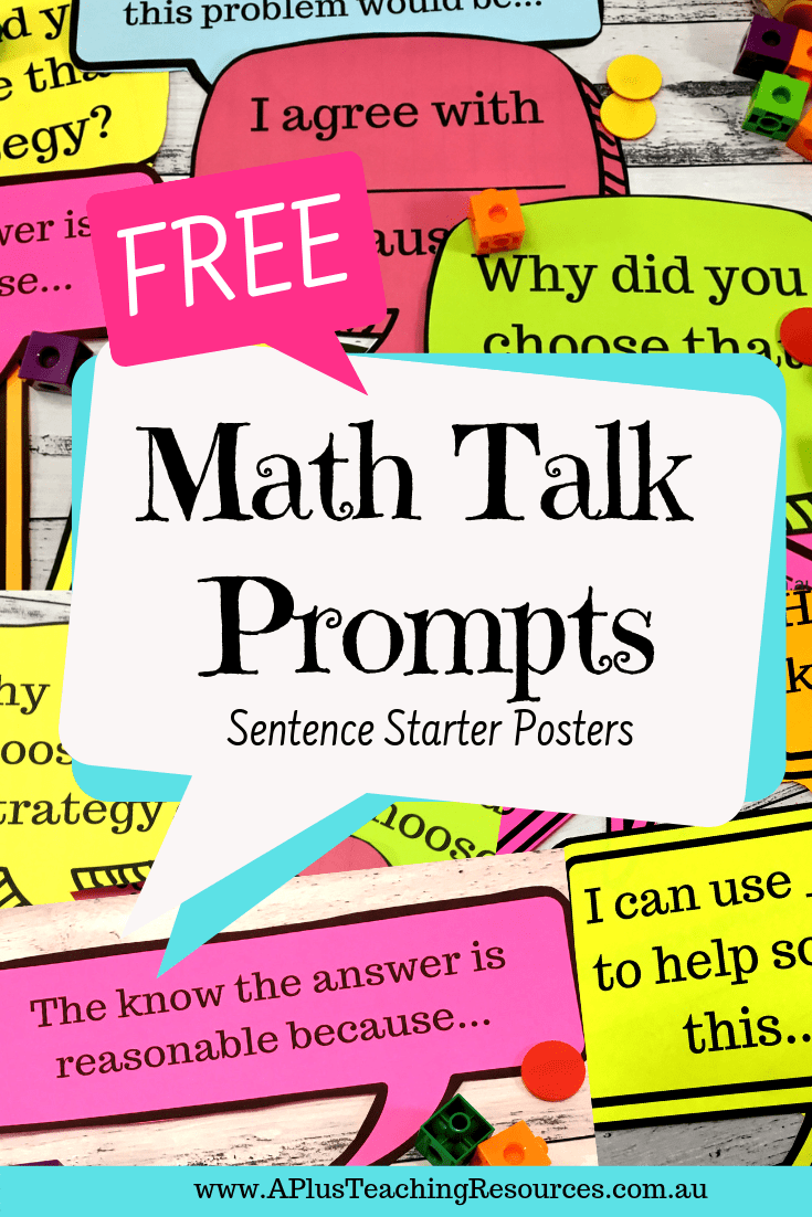 math talk posters FREEBIE