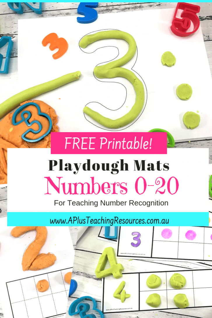 Number Playdough mats 0-20