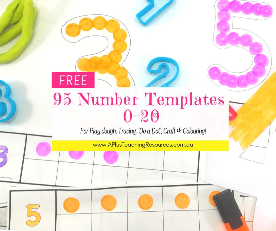 95 FREE Number printables 0-20