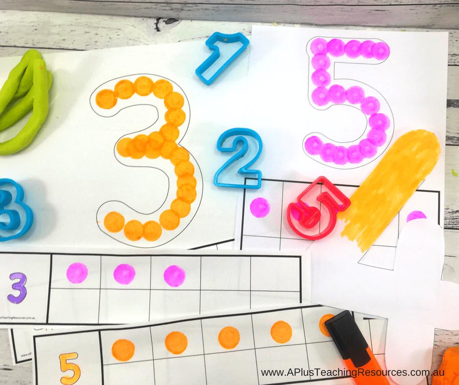 do a dot number mats with ten frames