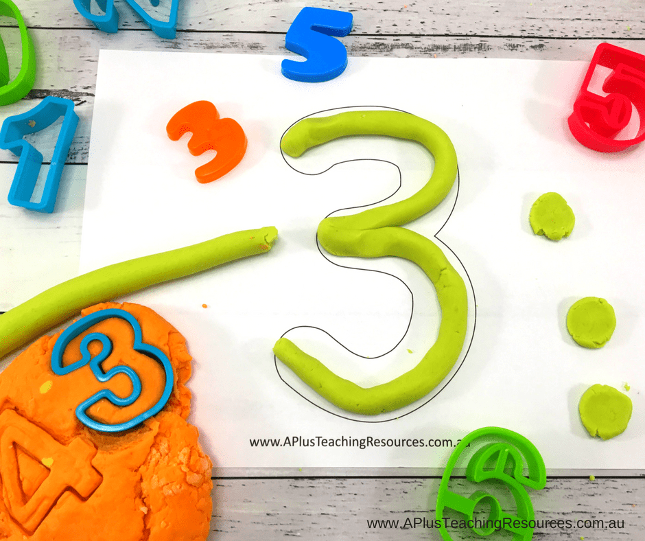 playdough numbers 0-20