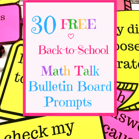 30 Free math talk prompts posters