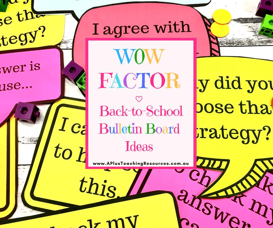 WOW factor Bulletin Board ideas for teachers