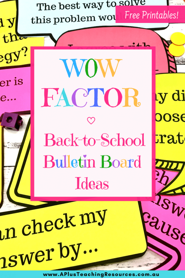 WOW factor Bulletin Board ideas for back to school