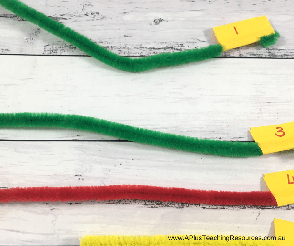 Pipe Cleaner Number Recognition Numbers