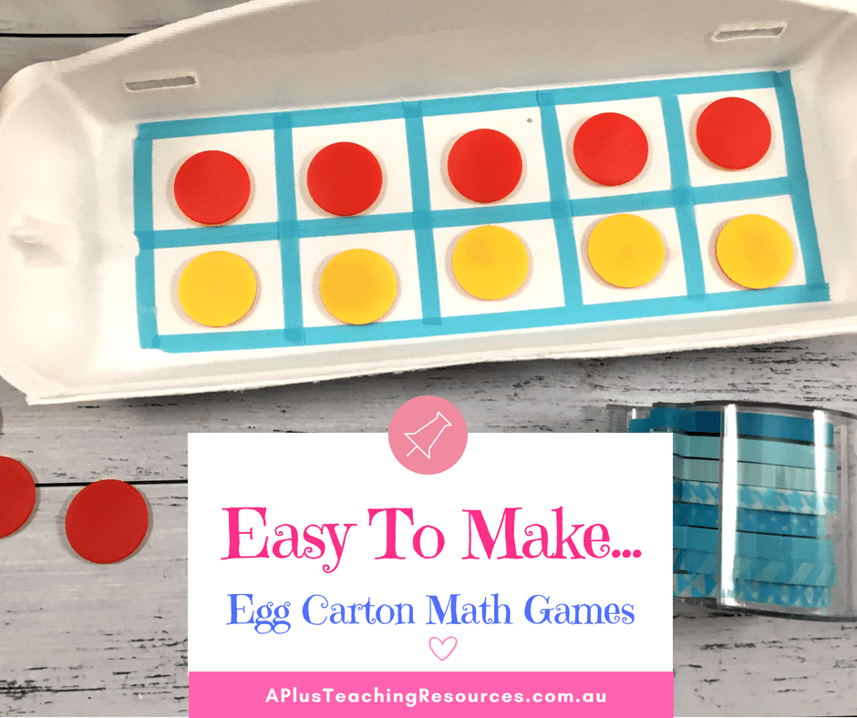 Easy Egg Carton Math games
