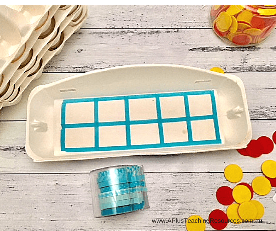 Washi Tape Egg Carton ten frame