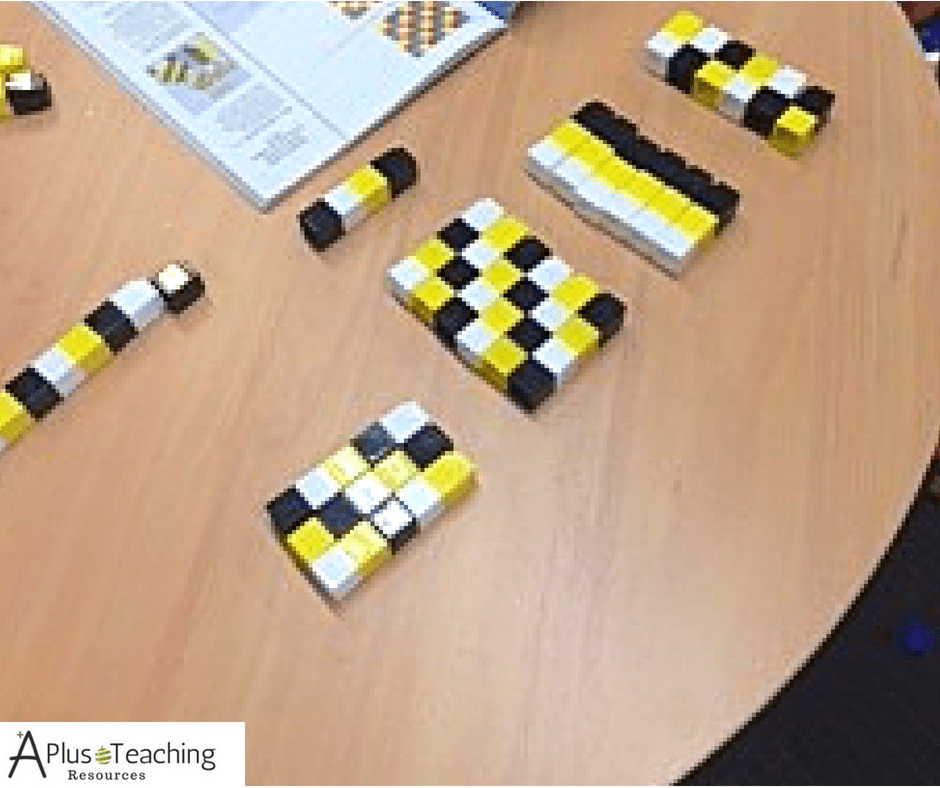 Algebra tips with unifix cubes