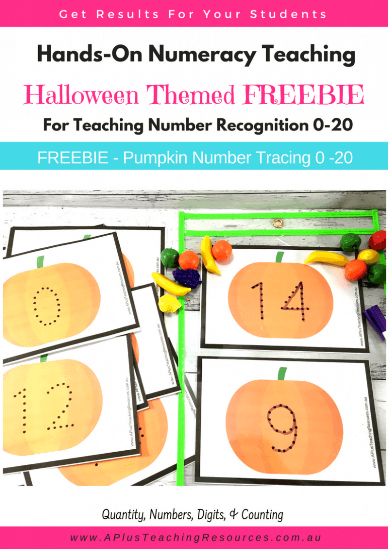 FREEBIE Halloween Number Recognition Activity Pack