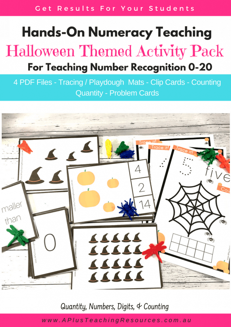 Halloween Number Recognition Activity Pack